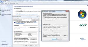 Activar restaurar sistema en Windows 7 - Protección del sistema
