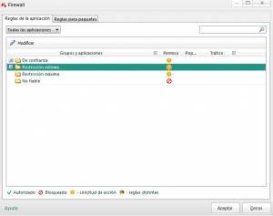 Configuración KIS 2013 - Firewall - configuración