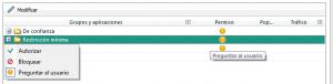 Configuración KIS 2013 - Firewall - configuración - permisos - reguntar al usuario