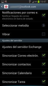 Sincronizar tareas y contactos  - Configuraci__n sincronizaci__n cuenta correo Android