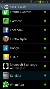Sincronizar tareas y contactos  - Exchange activesync android