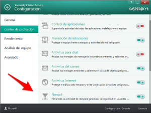 KIS 2014 - Configuración - Centro de prtección