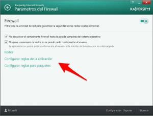 KIS 2014 - Configuración - Parámetros del firewall