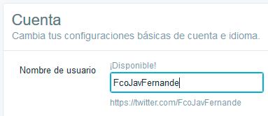 Transferir seguidores - Twitter - configuración - usuario