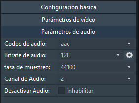 AVConverter - audio - convertir a mp4