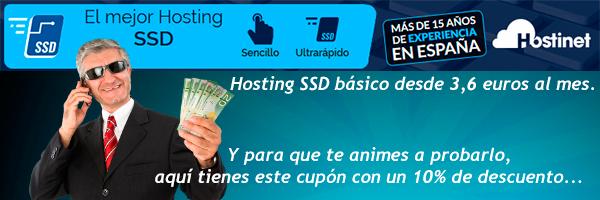 Hostinet - El mejor hosting SSD cupón