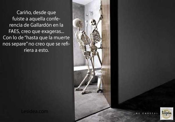 El matrimonio según Gallardón - esqueletos
