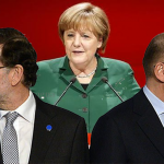 Merkel, Rajoy y Letta