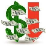 Simbolo dolar y billetes