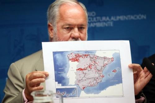 Arias Cañete y el mapa de los incendios