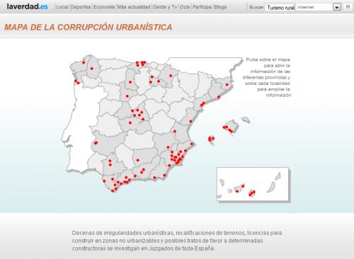 Mapa corrupción urbanística La Verdad 2006