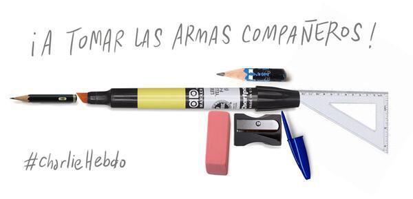 A tomar las armas Charlie Hebdo